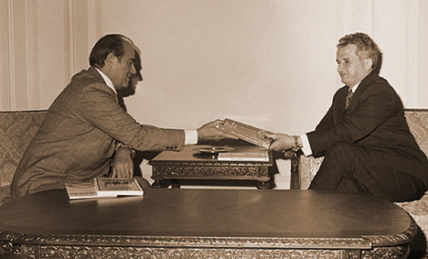 Iosif C. Dragan si Nicolae Ceausescu