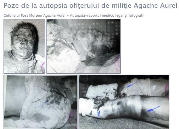 Poze de la autopsia colonelului Agache Aurel