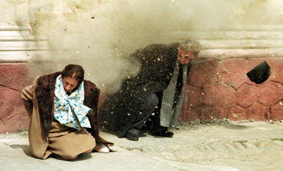 Reconstituirea episodului împuşcării soţilor Ceauşescu