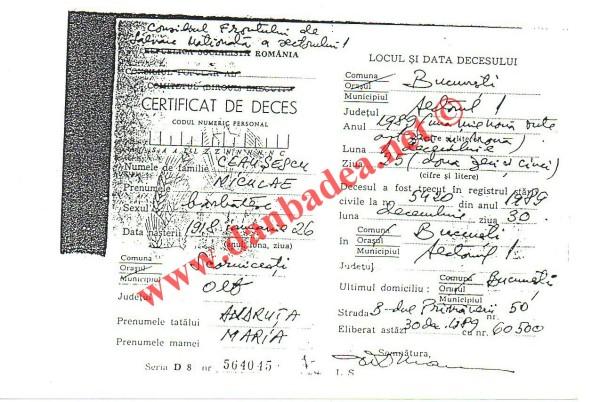 certif deces Nicolae C