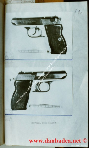 pistol sinucidere