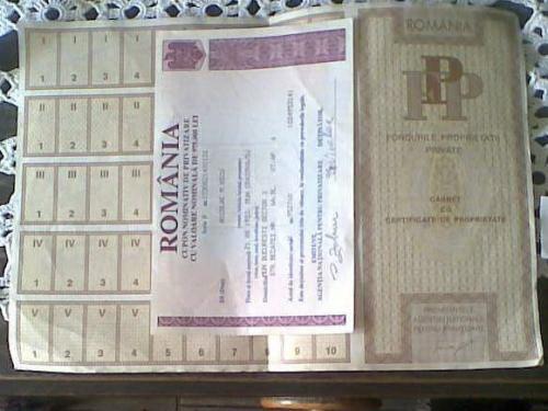 certificate de proprietate