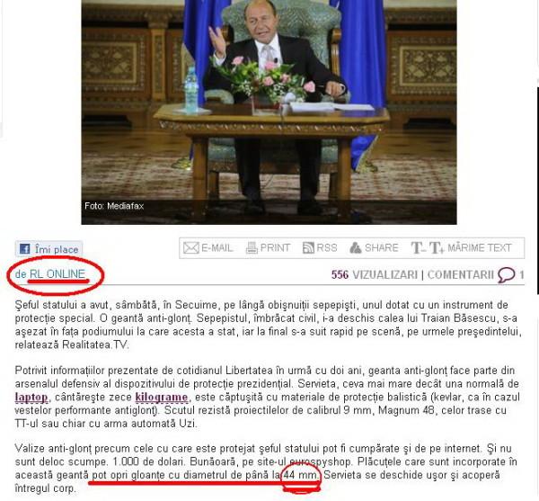 România liberă nu putea să nu înghită căcăreaza şi să ne-o livreze, ca ştire
