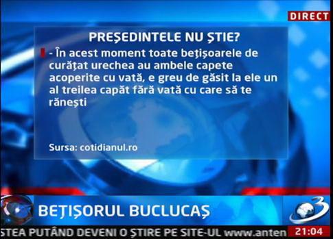 Sursa Nistorescu afirmă că nu există beţişor bombat într-un capăt!