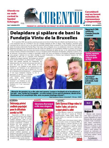 PAGINA MASACRATA DE INFRACTORII DE LA CURENTUL, care au scos materialul de fond atat din editia ONLINE, cat si din cea in format PDF!