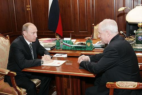 Putin si Serghei Lebedev