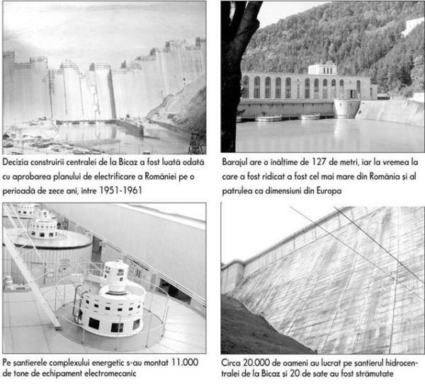 Constructia hidrocentralei de la Bicaz (foto:zf.ro)