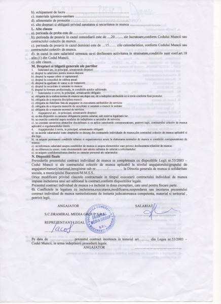 Contract de muncă, pag 2