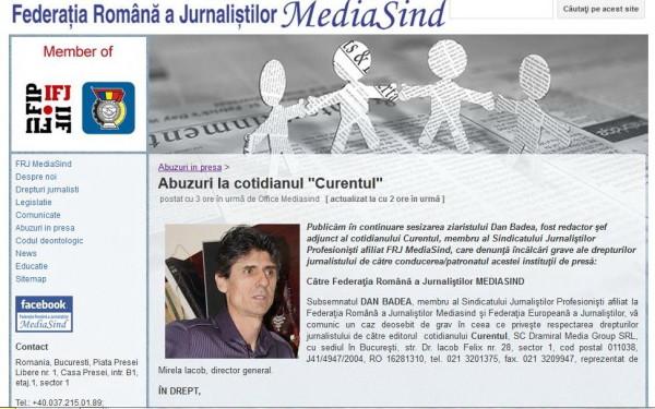 sesizare Mediasind