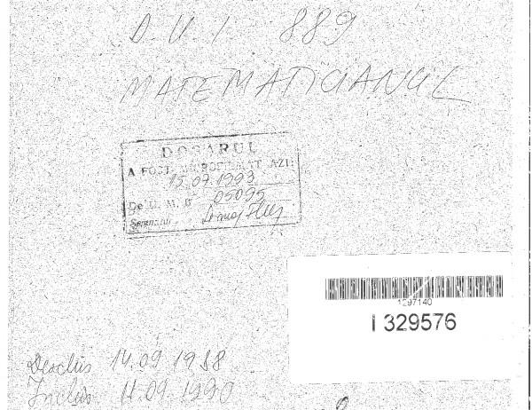 Dosar de Urmarire Informativa MATEMATICIANUL (nume real Dan Badea)