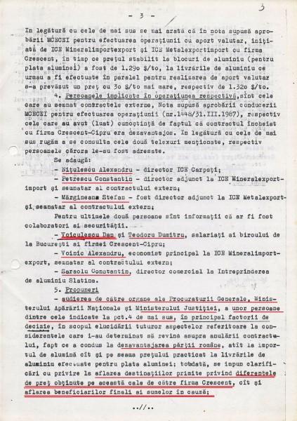Documentul ce probează că între firma PCR (ICE Carpați) și firma SIE (Crescent) a câștigat Securitatea în paguba statului român - pag 3 (Voiculescu trebuia anchetat încă de atunci)