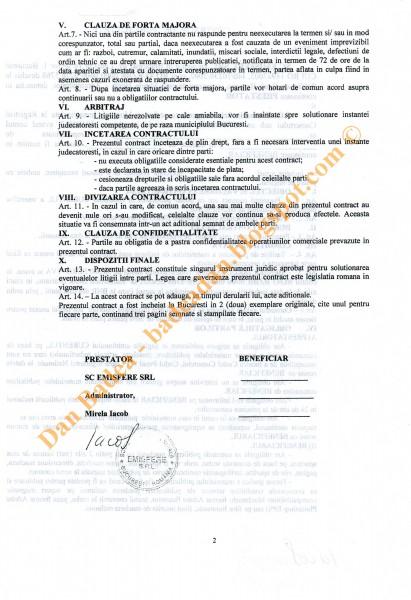 Contract de publicitate pregătit pentru TRANSMIR (pag 2)