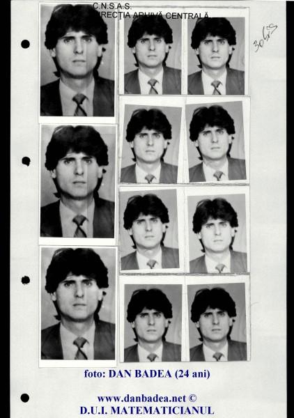 """Fotografia mea, multiplicată de 11 ori, pentru a fi trimisă la Direcția a V-a, Serviciul """"Trasee"""", USLA și UM 0672 (Filaj)"""