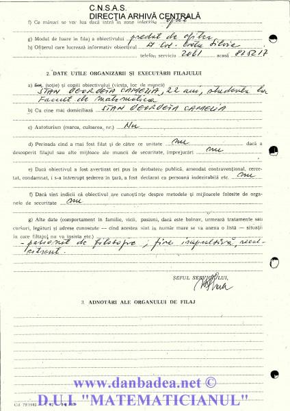 Cerere de Filaj pe numele Badea Dan, din 12.12.1987 (pag 2)