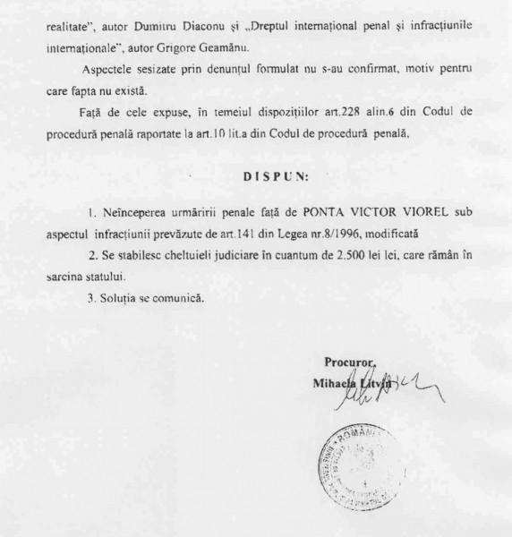 Decizia procurorului Litvin: NUP