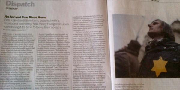 Fragment din materialul apărut în revista TIME din 1 aprilie 2013
