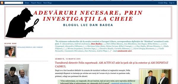 """Fostul meu blog, """"Adevăruri necesare, prin Investigații la cheie"""" -  desființat la reclamațiile mincinoase ale Mirelei Iacob, patronul Dramiral Media Group, editorul Curentul"""