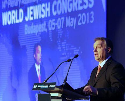 Viktator Orban la tribuna WJC 2013