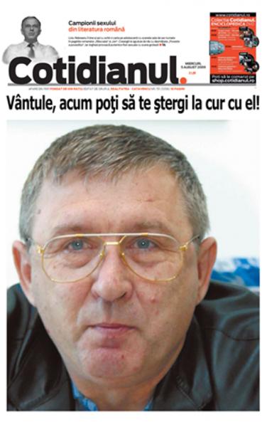 Cornel Nistorescu, pe vremea în care Cotidianul era util pentru că apărea pe...hârtie, deci slujea interesele cetățenilor constipați
