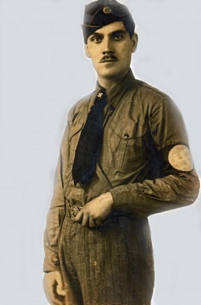 Bunicul Badea Gh Ion (1938) in uniforma cuzista - ucis de rusi în 1943, pe frontul de est