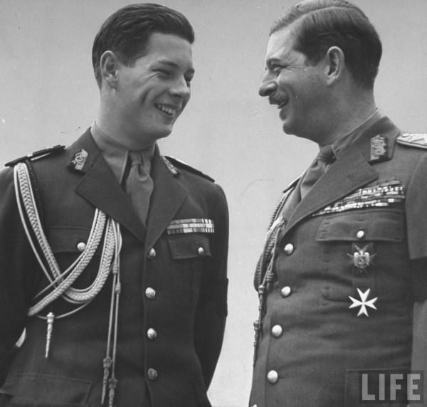 regele-Mihai-si-regele-Carol-al-II-lea-in-1940