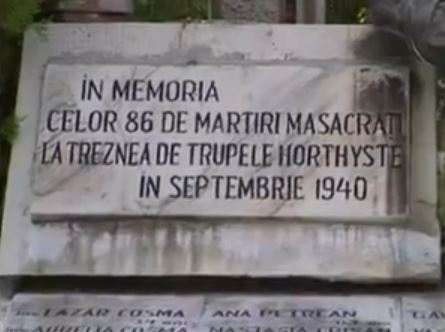 Placuță comemorativă la Trăznea