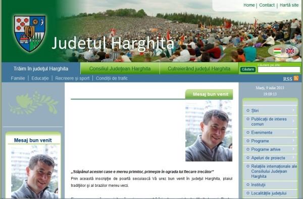Borboly Csaba nu a fost suspendat și de pe site-ul Consiliului Județean Harghita, unde joacă la dublu!