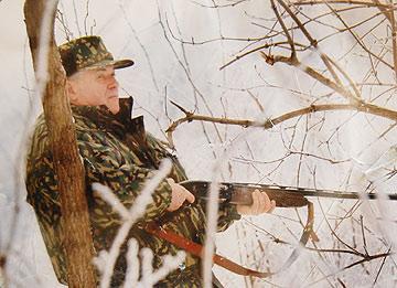 Voronin la vânătoare (foto: ziarul de gardă)