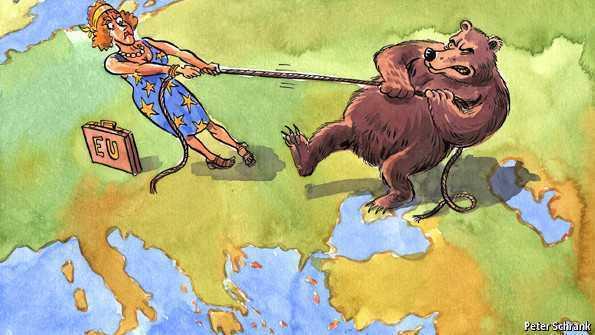 Miza summitului de la Vilnius disputată intre UE si Rusia (foto: Tthe economist)