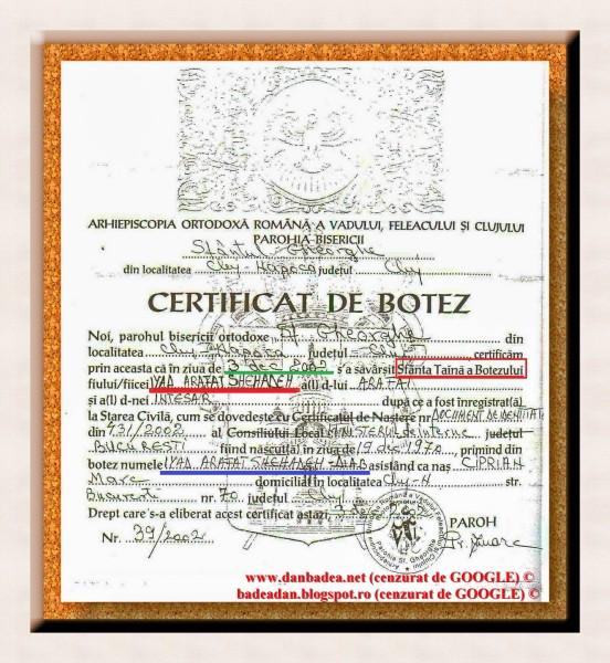 Palestinianul Iyad Arafat Shehaden-Diab, șeful comunității musulmane din Cluj a fost botezat în 2002, la Parohia Sf. Gheorghe din Cluj, devenind creștin ortodox. Motivul: căpătarea statutului de refugiat politic, pe motiv că ar fi fost persecutat pentru apostazie în țara de origine. Motivul oficial este că statutul de refugiat poliytic îi conferă drepturi altfel imposibil de obținut. Paradoxul este că un ortodox conduce o comunitate musulmnă. ABSURD!