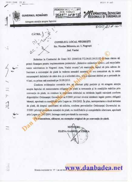 Somația Ministrului Elena UDREA, care avea să atragă ura viscerală a muierii lui Himalaya (Mirela iacob), părtașă la afacerea de manipulare prin presă!