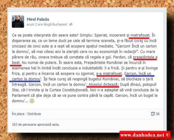 Postarea mitocănească de pe Facebook a Purtătorului de cuvânt al lui Ponta.