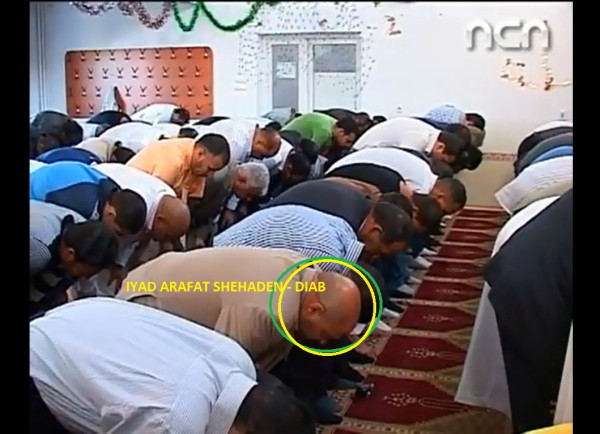 """Creștinul IYAD - DIAB, rugându-se întru """"Hristos"""", sau recitând trei versuri din El Zorab: """"Arabul în genunchi plecat/ Sărută sângele'nchegat/ Cu ochii'ncremeniți!""""..."""