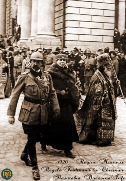 Regina Maria si Regele Ferdinand la Chisinau, in 1920 (foto:http://basarabia-bucovina.info/)