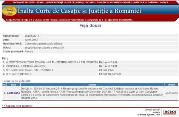 Decizia Înaltei Curţi de Casaţie şi Justiţie din 24 ianuarie 2014: Unirea cu Năstase, Voicu şi Vîntu a devenit posibilă!