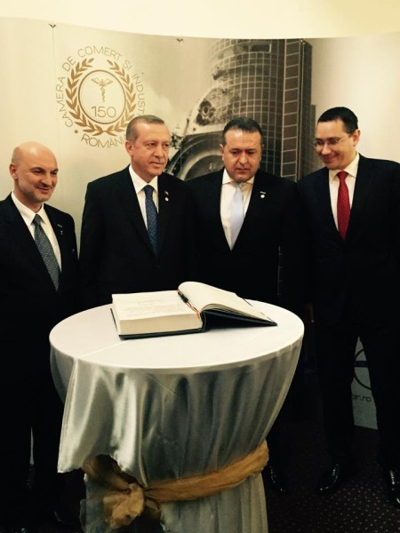 1 aprilie 2015: presedintele Erdogan si premierul Ponta la CCIR