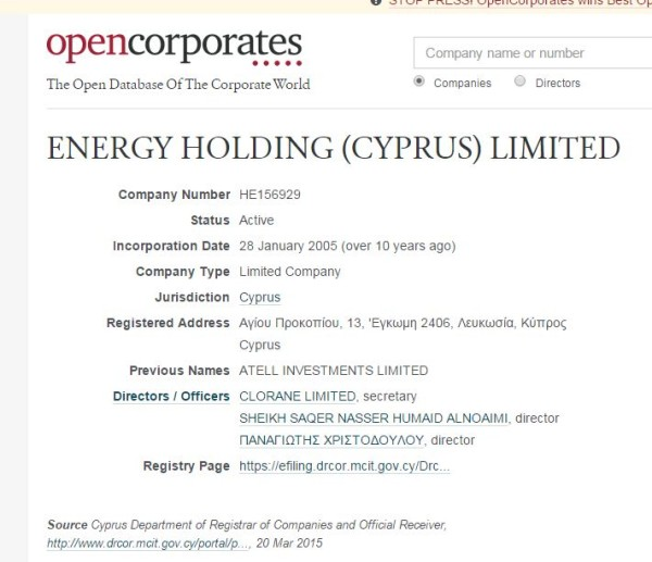 energy holding cyprus ltd