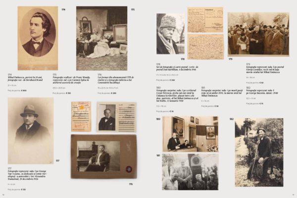 """pagina 11 a catalogului """"Mari poeti romani"""", realizat pentru licitatia Artmark din 12 iulie, orele 20.00"""