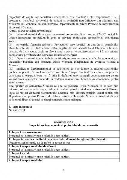 Nota de fundamentare a lui Dan Șova pentru reorganizarea MINVEST Deva - pag 2